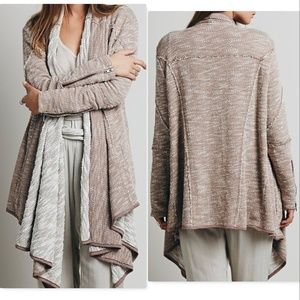 Free People In The Loop Open front cardigan long